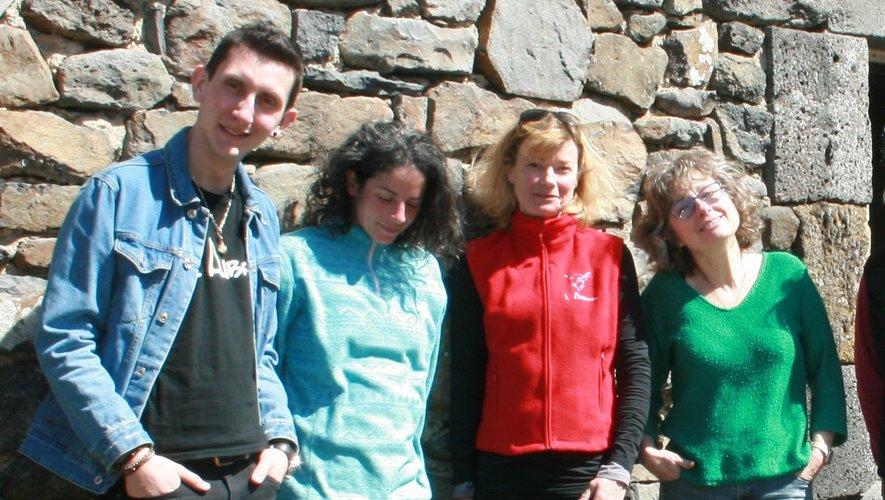 La jeune équipe de la Maison de l'Aubrac.