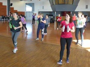 Les participantes à cette action de promotion du sport pour la femme.