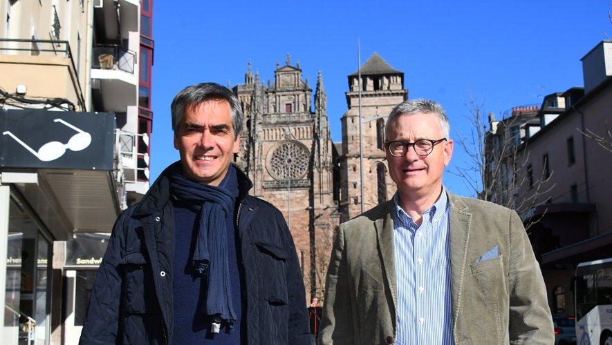 Bernard Galy (à droite), président du Rotary Club de Rodez, et Pierre Censi, en charge de la communication, compte beaucoup sur l'aspect populaire de cette nouvelle épreuve.