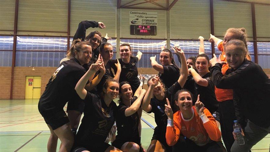 Victoire des seniors filles à Castelnaudary.