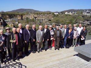 La fédération départementale ravie de se réunir à Bozouls.