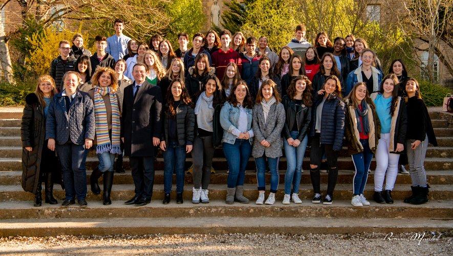 Les lycéens espalionnais et les jeunes Israéliens.