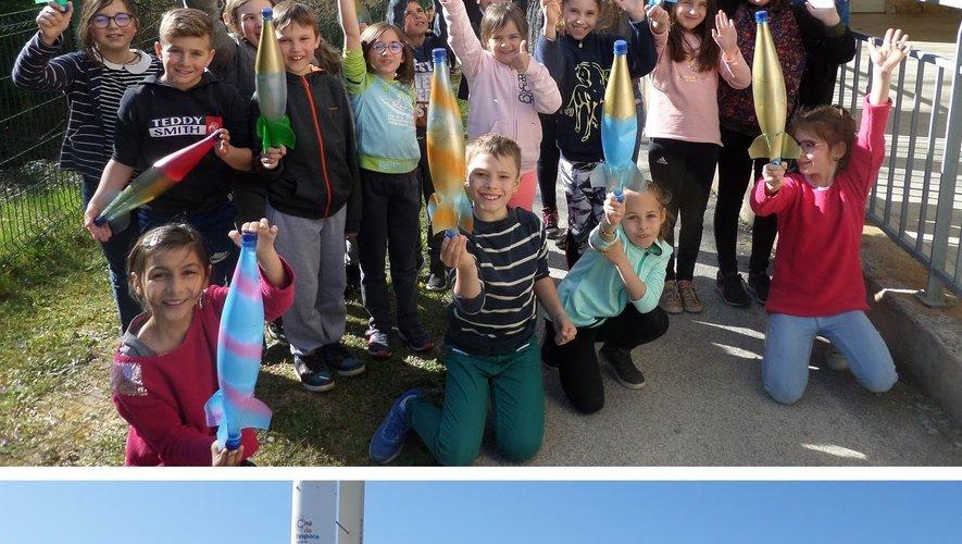 Les écoliers ont fabriqué une fusée. Le lendemain ils se sont rendus à la Cité de l'Espace à Toulouse.