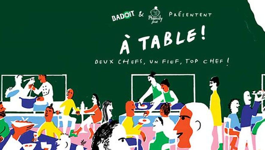 """Des candidats de """"Top Chef"""" cuisinent pour le grand public lors de l'événement """"A Table"""""""