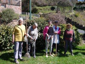 L'équipe des jardinières bénévoles.