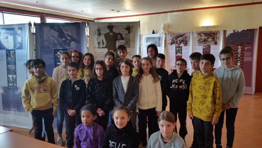 Les CM classe 2 de l'école Georges- Brassens.