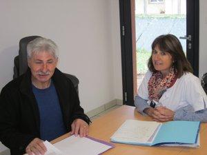 Didier Benedet, le président, et Régine Boudes, l'infirmière responsable.