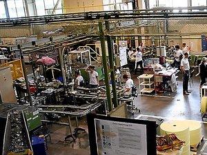 L'usine de Marcillac emploie environ 150 salariés en CDI.