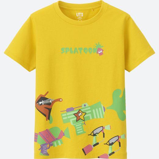 """Un des T-shirts issus de la collection """"UT Splatoon"""" par Uniqlo x Nintendo."""