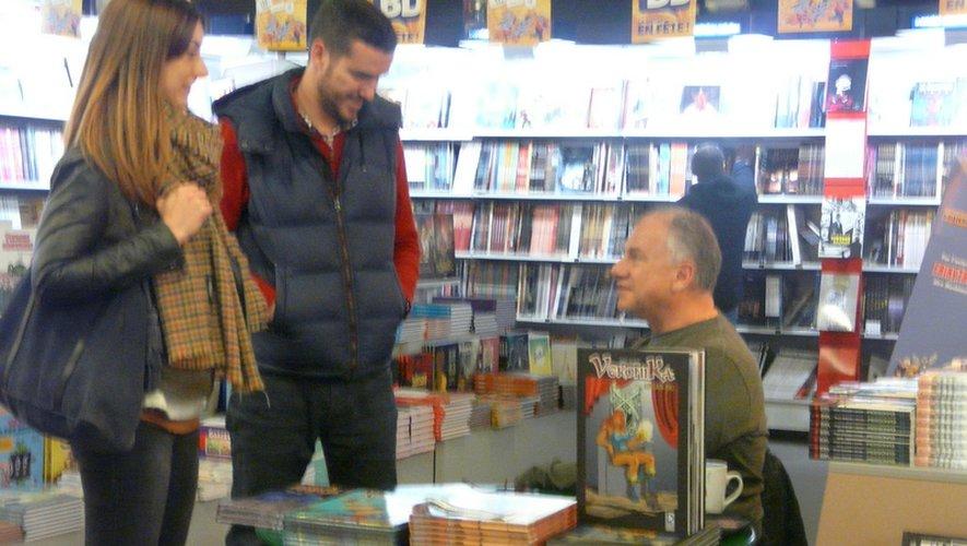 Amédée Albi en discussion avec ses lecteurs.