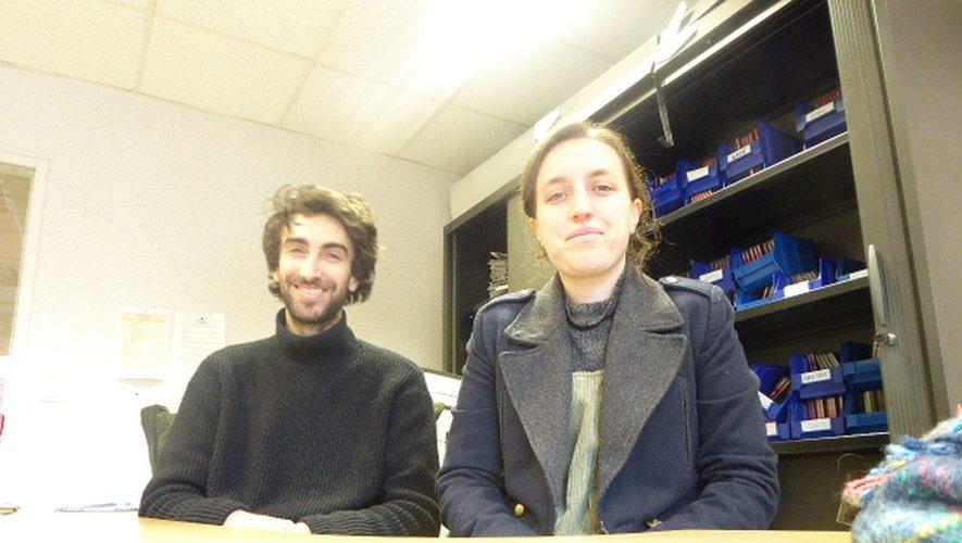 Baptiste et Roser, les deux réalisateurs.