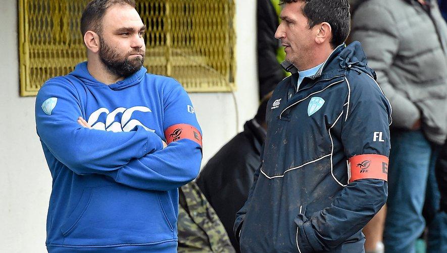 Les coentraîneurs decazevillois Cyril Petit (à gauche) et Fabrice Landes.