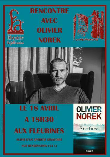 Olivier Norek présentera jeudi son dernier roman Surface.
