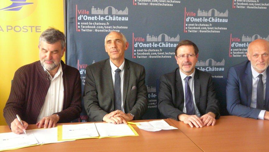 De gauche à droite : D. Nègre (Asac), D. Faurel (La Poste), J.-P.  Keroslian et S. Mazars.