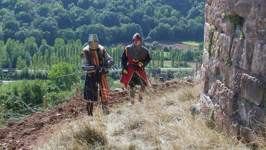 Des chevaliers seront présents pour une belle photo souvenir...