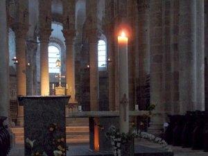 La célébration pascale aura lieu en l'abbatiale Sainte- Foy de Conques.