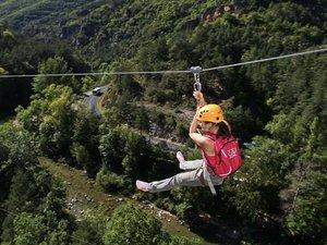 Les équipes d'Ushuaïa TV devraient s'essayer à la tyrolienne dans le Sud-Aveyron.