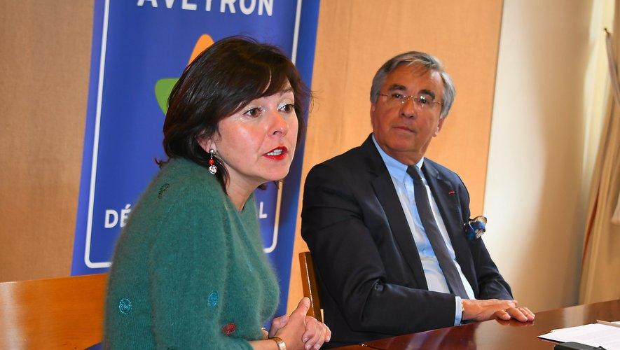 Carole Delga était à Rodez mardi.