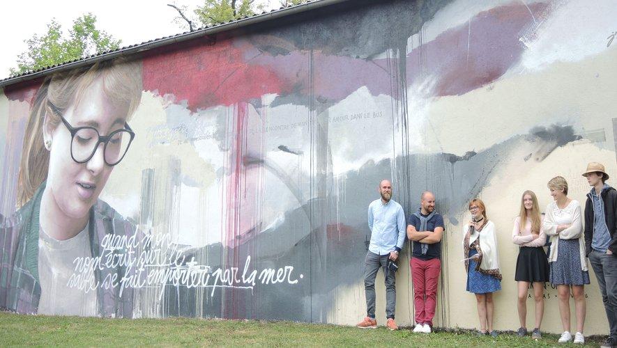 Paul et Rémi étaient réalisateur de la fresque « Ephémère ».