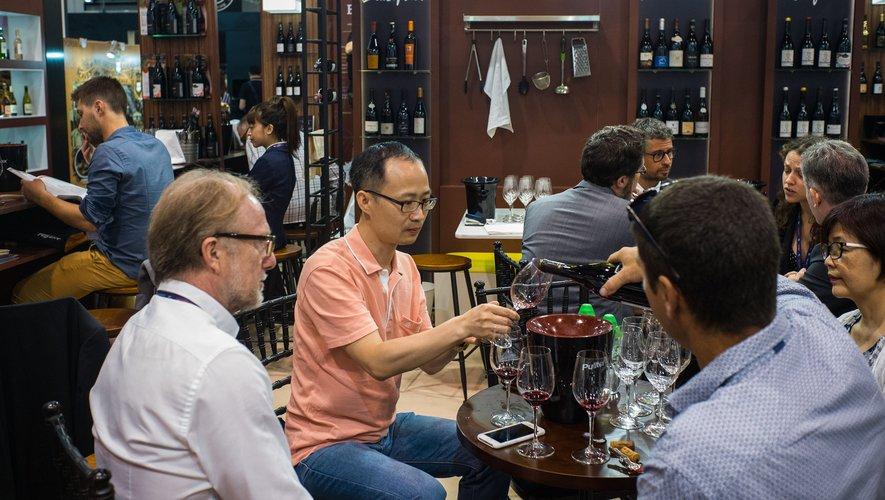 Le salon Vinexpo Hong Kong, le 29 mai 2018