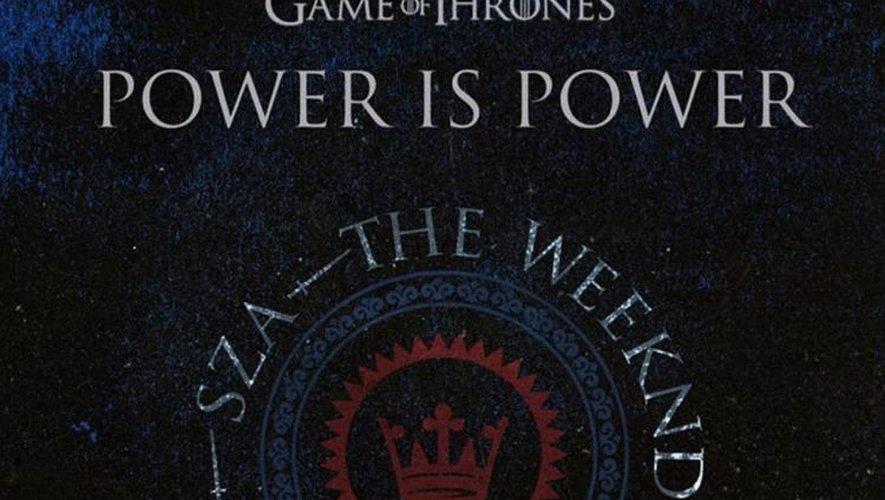 """La pochette de """"Power is Power"""", le troisième extrait de la bande originale de """"Games of Thrones"""", 'For the Throne: Music Inspired by the HBO Series Game of Thrones', à paraître le 26 avril."""