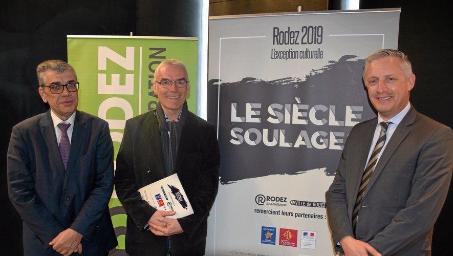 Le président des Aveyronnais d'ici et d'ailleurs était accompagné, ce jeudi  à Rodez, d'Alain Marcillac, responsable de la communication à la Fédération,  et d'Eric Felgines, président de la commission culturelle.