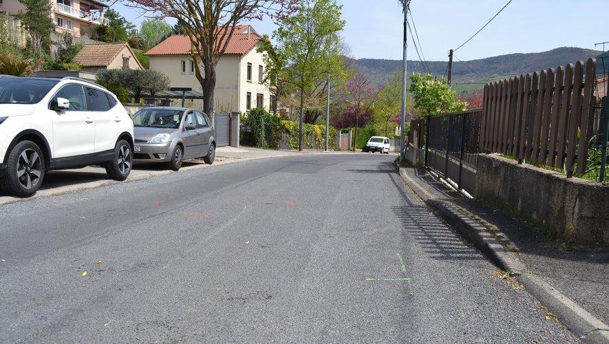 L'accident s'est produit rue Beau-Soleil à Millau.