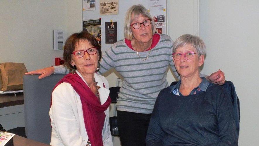 Aux commandes de la 4e édition de Boucle d'art, l'association Olt'His et trois de ses membres : Marie-Christine Grès, Jacquie Porte et Mireille Mas.