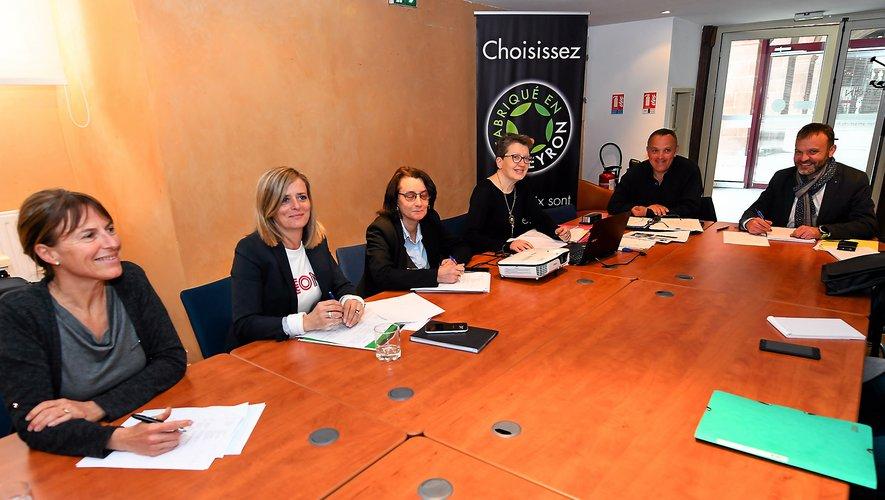 L'équipe du comité d'agrément de « Fabriqué en Aveyron » au grand complet.