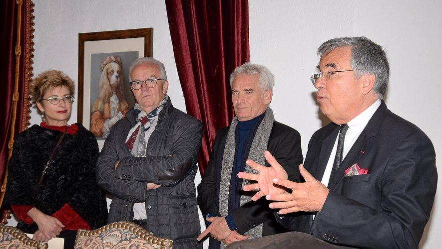 Le président du conseil départemental, Jean-François Galliard, lors du vernissage.