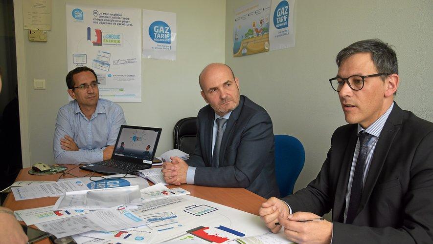 Bruno Alary, à droite, et les responsables régionaux de GTR se sont fixé l'objectif de 100 % de chèques utilisés.