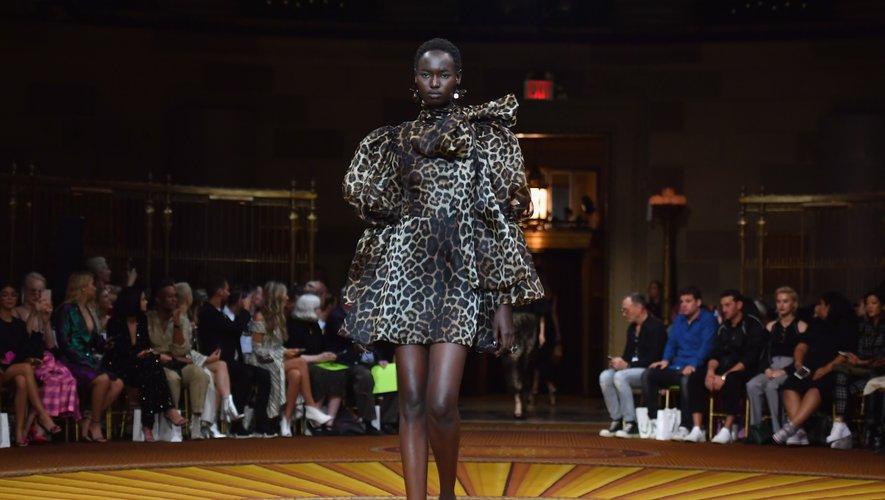 L'imprimé animalier version glamour de Christian Siriano - Collection printemps-été 2019 - New York, le 8 septembre 2018.