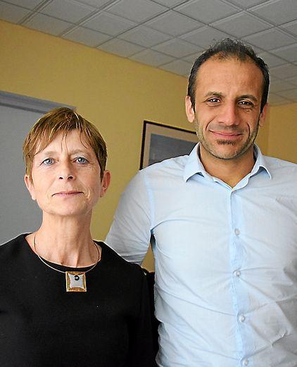 Isabelle Serres, responsable départementale de la Direccte et Julien Hornero, responsable de l'unité de contrôle.