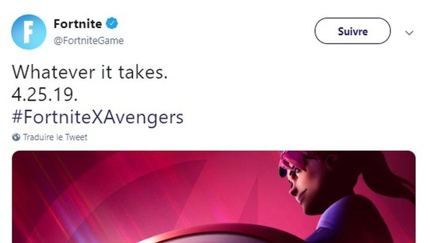 """La collaboration entre """"Fortnite"""" et """"Avengers"""" sera disponible dès le jeudi 25 avril prochain."""