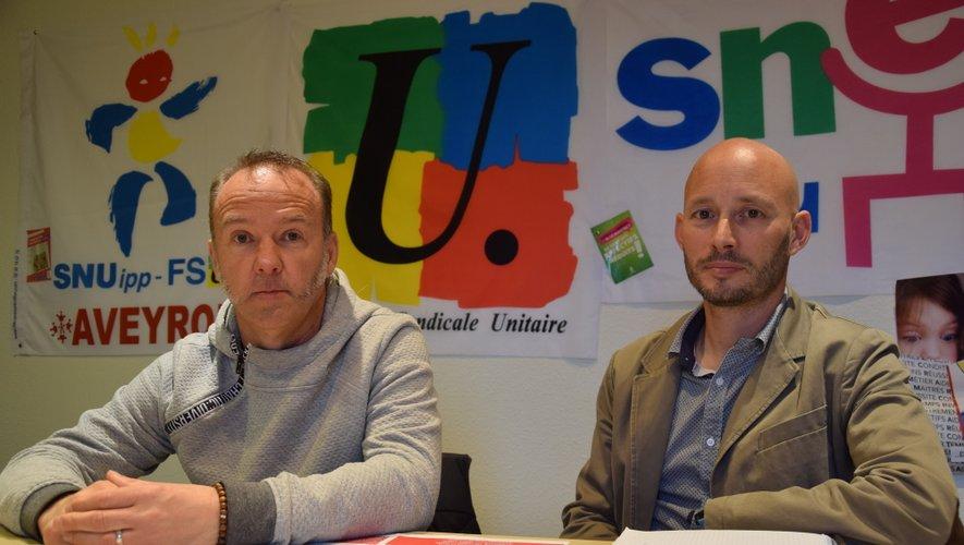 David Gistau (CGT) et Sylvain Lagarde (FSU).