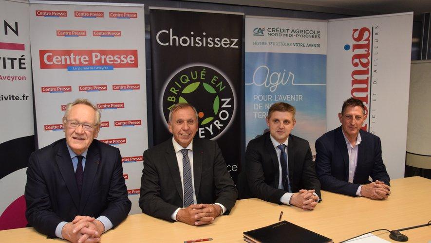 Bernard Maffre, Jean-Claude Luche, Benoît Quintard et Serge Gélis ont scellé le partenriat.