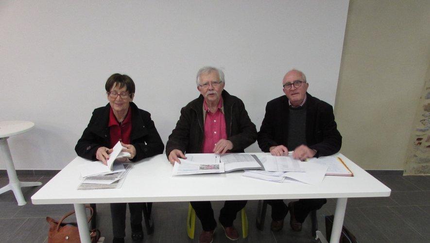 Les trois coprésidents de l'association : Claudine Liautard, Joël Causse et François Janodet.