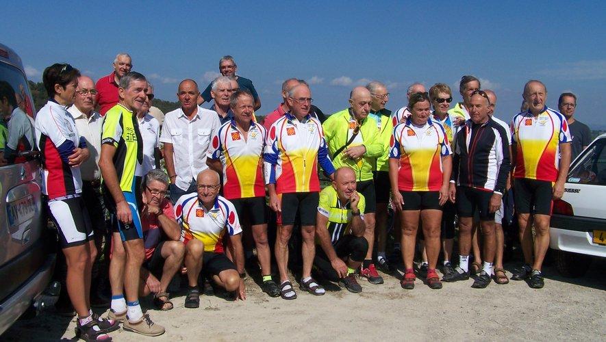 Un groupe de cyclotouristes villefranchois.