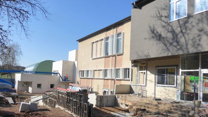 Le nouveau bâtiment à l'espace Antoine-de-Saint-Exupéry qui va recevoirle Pôle petite enfance le 6 mai.