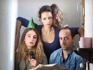 Les comédiens, Manon, Marine et Christian vont travailler  leur adaptation d'après la pièce de David Paquet.