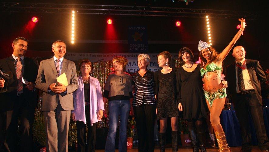 Les bénévoles de l'Assoc'piquante lors des Trophées  en 2010 où ils avaient reçu le prix du Coup de cœur.