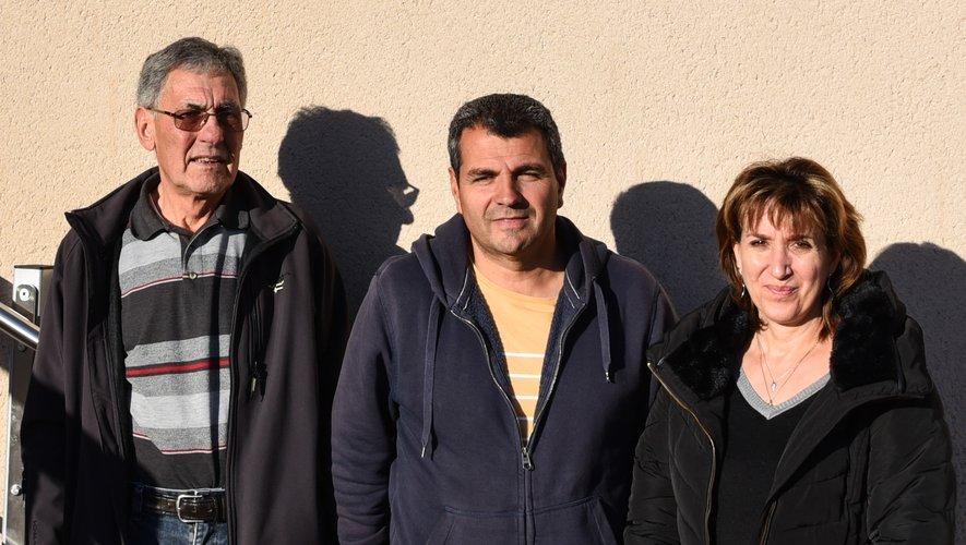 De gauche à droite : Bernard Cayssials. Gilles Chahinian et Christine Russo.