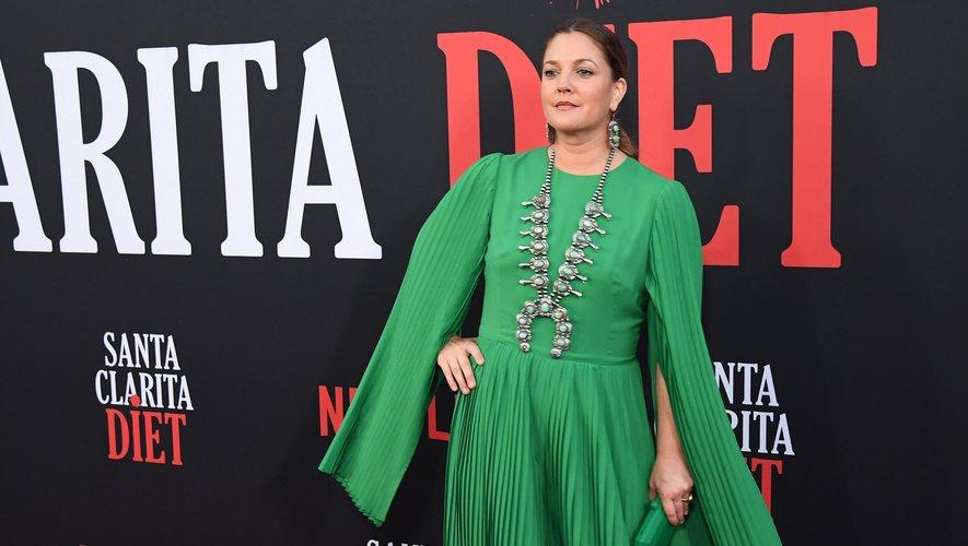 """Drew Barrymore lors de la première de la saison 3 de """"Santa Clarita Diet"""", à Hollywood."""