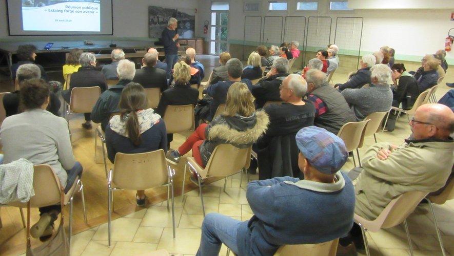 La réunion, où de nombreux Estagnols participaient, était animée par Emilien Soulenc, Hugo Receveur et Rémy Teyssèdre.