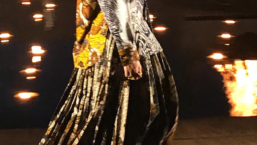 Une des silhouettes présentées par la maison Dior pour sa collection Croisière 2020.