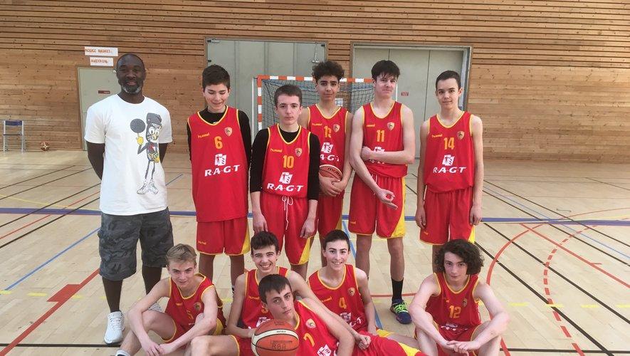 L'équipe des U15 masculins.