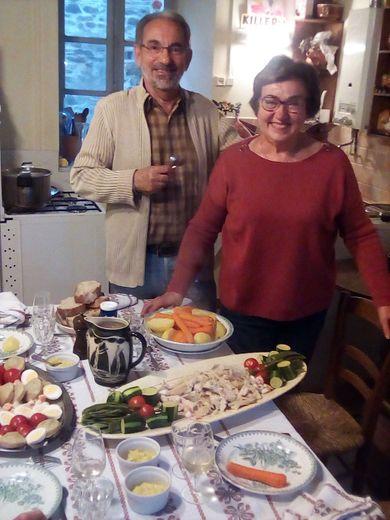 Chez Françoise Bonnefous-Fourrat : la morue des vacances de Pâques.