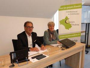 Jean-Paul Peyrac et Cécile Sury, nouvelle Directrice générale des services.