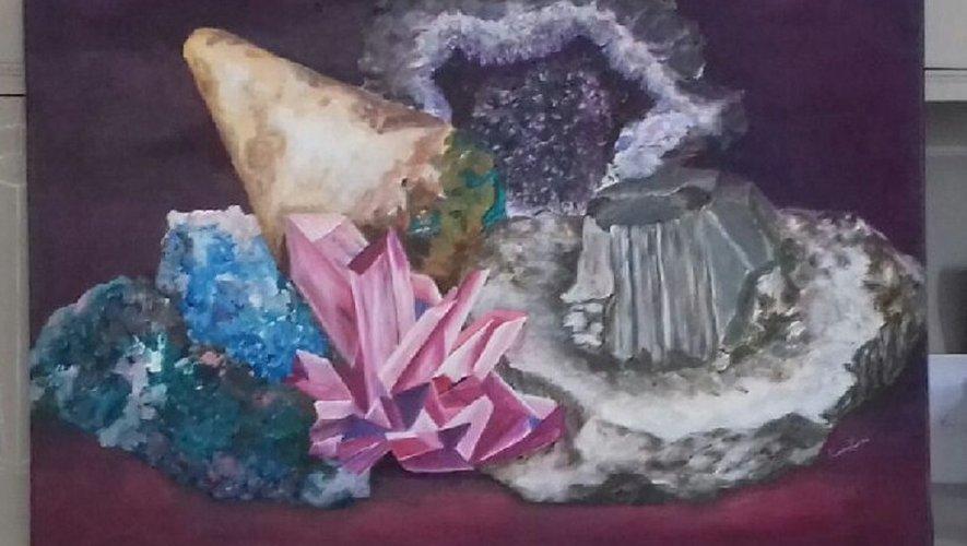 Peindre des minéraux dans toute leur splendeur...