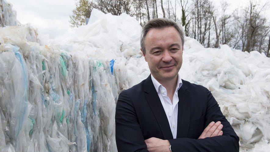 Sébastien Wolff, co-fondateur et patron d'ExcelRise, qui escompte multiplier par dix sa production de films plastiques recyclés d'ici 2025.